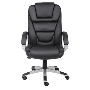 Boss Black No Tools Required Executive Leather Chair