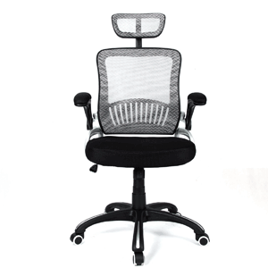H&L Office Mid Back Silver Mesh Executive & Managerial Computer Desk Swivel Office Chair
