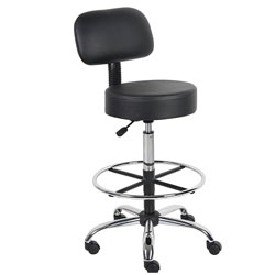Boss Office Products B16245-BK Be Well Medical Spa Drafting Stool