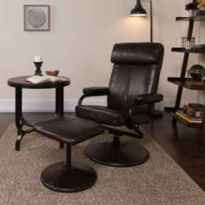 Flash Furniture Recliner Office Chair with Footrest