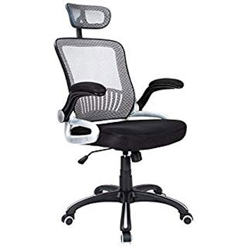 H&L Office Mid-Back Silver Mesh Executive