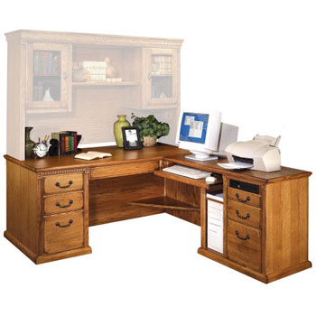 Martin Furniture Huntington Oxford L-Shaped Desk
