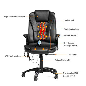 Mecor High-Back PU Leather Computer Chair