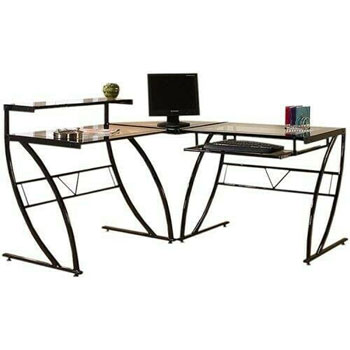 Z-Line Glass Office Desk