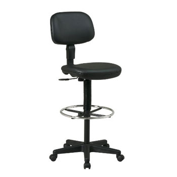 Office Star Sculptured Vinyl Seat and Back Pneumatic Drafting Chair