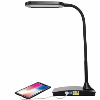 TW Lighting IVY-40BK The IVY LED Desk Lamp with USB Port
